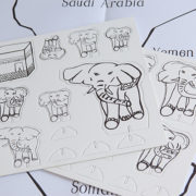 Press-out elephant pieces & map