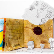 Activity press-out colouring elephants & map included